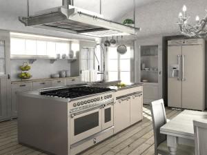 cucina con frigo libara installazione